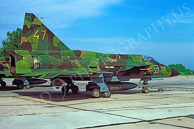 SAAB Viggen 00025 SAAB Viggen Swedish Air Force June 1996 by H J van Broekhuizen