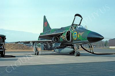 SAAB Viggen 00003 SAAB Viggen Swedish Air Force April 1982 by Kurt Thomsen