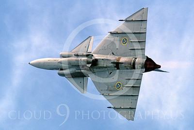 SAAB Viggen 00002 SAAB Viggen Swedish Air Force September 1997 by Peter J Mancus