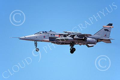SEPECAT Jaguar 00028 A landing SEPECAT Jaguar attack jet British RAF XZ366 8-1999, airplane picture, by Michael Grove, Sr
