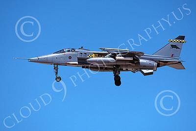 SEPECAT Jaguar 00034 A landing SEPECAT Jaguar attack jet British RAF XZ394 8-1999, airplane picture, by Michael Grove, Sr