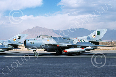 Shenyang F-6 00005 A static Shenyang F-6 (MiG-19) Pakistan Air Force 724 2-2000 military airplane picture by Keith Woods