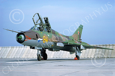 Su-17 00031 A static Sukhoi Su-17 Fitter Soviet Air Force 84 8-1993 military airplane picture by H J van Broekhulzen