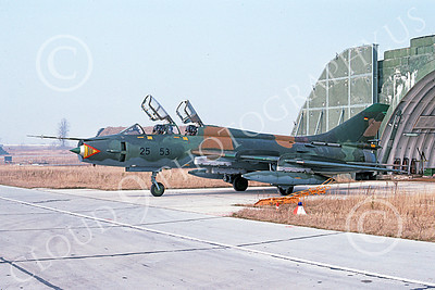 Su-22 00031 A static Sukhoi Su-22 Fitter German Air Force 25 53 3-1991 military airplane picture by Wilfreid Zetsche