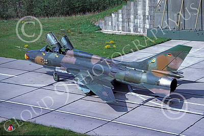 Su-22 00037 A static Sukhoi Su-22 Fitter German Air Force 25 51 6-1991 military airplane picture by Wilfreid Zetsche