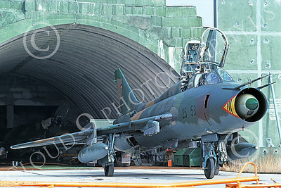 Su-22 00035 A static Sukhoi Su-22 Fitter German Air Force 25 53 3-1991 military airplane picture by Wilfreid Zetsche