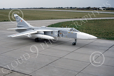 Su-24 00021 A taxing Sukhoi Su-24 Fencer Soviet Air Force 10 8-1992 military airplane picture by Wilfreid Zetsche