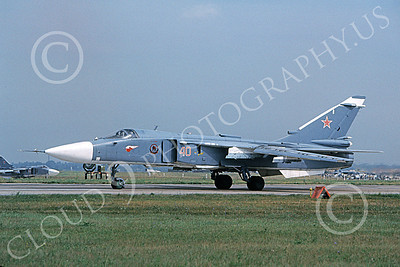 Su-24 00015 A taxing Sukhoi Su-24 Fencer Soviet Air Force 8-2009 military airplane picture by Wilfried Zetsche