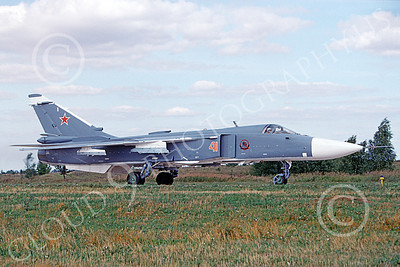 Su-24 00017 A taxing Sukhoi Su-24 Fencer Soviet Air Force 41 8-2009 military airplane picture by Bob Ramsey