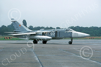 SU-24 00033 A taxing Sukhoi Su-24 Fencer Soviet Air Force 02 6-1993 military airplane picture by Wilfreid Zetsche