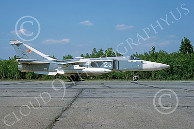 Su-24 00031 A taxing Sukhoi Su-24 Fencer Soviet Air Force 5-1993 military airplane picture by Wilfreid Zetsche