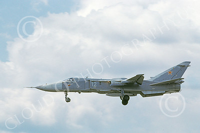 SU-24 00008 A landing Sukhoi Su-24 Fencer Soviet Air Force 12 5-1992 military airplane picture by Wilfreid Zetsche