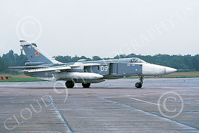 SU-24 00037 A taxing Sukhoi Su-24 Fencer Soviet Air Force 09 6-1993 military airplane picture by Wilfreid Zetsche