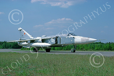 Su-24 00023 A taxing Sukhoi Su-24 Fencer Soviet Air Force 26 8-1992 military airplane picture by Wilfreid Zetsche