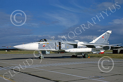 SU-24 00035 A static Sukhoi Su-24 Fencer Soviet Air Force 01 6-1993 military airplane picture by Wilfreid Zetsche