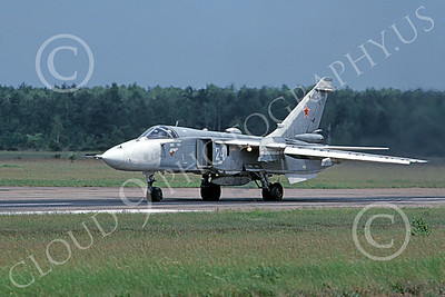 Su-24 00029 A taxing Sukhoi Su-24 Fencer Soviet Air Force 6-1992 military airplane picture by Wilfreid Zetsche