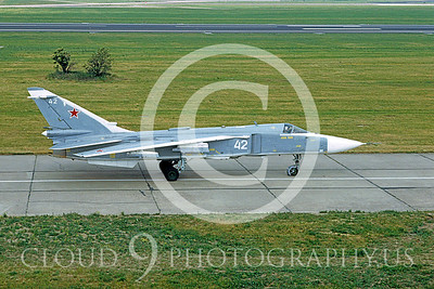 SU-24 00007 Sukhoi Su-23 Fencer Sovet 1992 by Wilfried Zetsche via AirDOC Collection