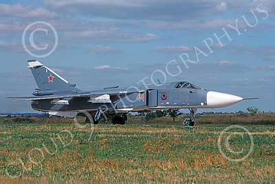 Su-24 00011 A taxing Sukhoi Su-24 Fencer Soviet Air Force 8-2009 military airplane picture by Wilfried Zetsche