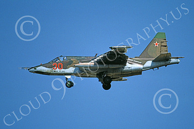 Su-25 00006 A landing Sukhoi Su-25 Frogfoot Soviet Air Force 30 8-1991 military airplane picture by Wilfreid Zetsche