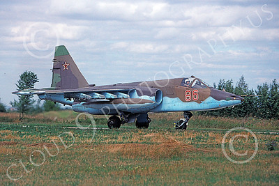 Su-25 00009 A taxing Sukhoi Su-25 Frogfoot Soviet Air Force jet attack aircraft military airplane picture 8-2009 by Wilfried Zetsche