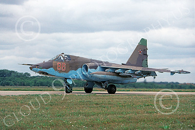 Su-25 00007 A taxing Sukhoi Su-25 Frogfoot Soviet Air Force jet attack aircraft military airplane picture 8-2009 by Wilfried Zetsche