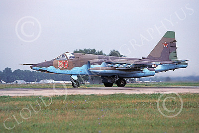 Su-25 00011 A taxing Sukhoi Su-25 Frogfoot Soviet Air Force 86 8-2009 military airplane picture by Ken Chambers