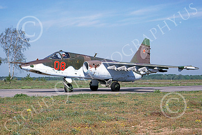 Su-25 00017 A taxing Sukhoi Su-25 Frogfoot Soviet Air Force 08 6-1992 military airplane picture by Wilfreid Zetsche