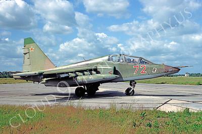 Su-25UB 00001 Sukhoi Su-25UB Frogfoot Soviet Air Force by Wilfried Zetsche