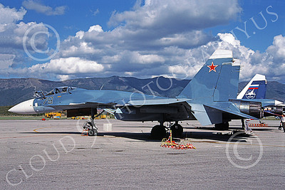 Su-33 00001 A static Sukhoi Su-33 Flanker Soviet Air Force 79 9-2000 military airplane picture by Roy Bradley