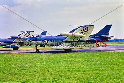 Supermarine Scimitar 001 A static Supermarine Scimitar, folded wings, British Royal Navy carrier based fleet strike aircraft, XD234, 9-1969 Yeovilton, military airplane picture by Stephen W  D  Wolf     853_7002     Dt