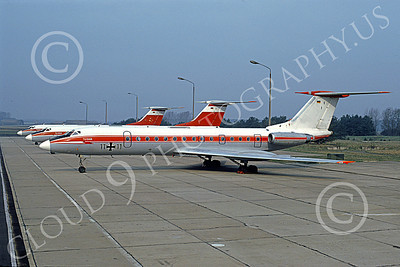 Tu-134 00011 A static Tupolev Tu-134 Crusty German Air Force 11 11 4-1991 military airplane picture by Marcus Herbote