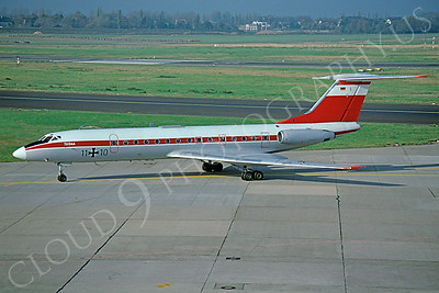 Tupolev Tu-134 00003 Tupolev Tu-134 German Air Force 1110 via African Aviation Slide Service