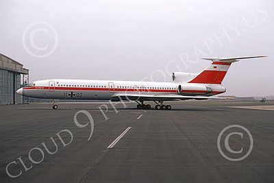 Tu-154 00019 A static Tupolev Tu-154 Careless German Air Force 11 02 4-1991 military airplane picture by Marcus Herbote