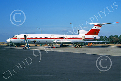 Tu-154 00013 A static Tupolev Tu-154 Careless German Air Force 11 02 9-1992 military airplane picture by Bernie LeDonne