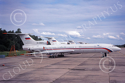 Tu-154 00011 A static line up of Tupolev Tu-154s Careless Russian Air Force 8-2009 military airplane picture by Terrance Johnson