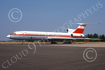 Tu-154 00017 A static Tupolev Tu-154 Careless German Air Force 11 01 8-1991 military airplane picture by Wilfried Zetsche
