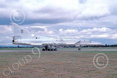 Tupolev Tu-22M Backfire 00001 A taxing low vis gray Tupolev Tu-22M Backfire jet bomber 9-2000, by Jens Schymura