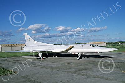 Tupolev Tu-22M Backfire 00004 A static low vis gray Tupolev Tu-22M Backfire jet bomber 7-1998 by Wilfried Zetsche
