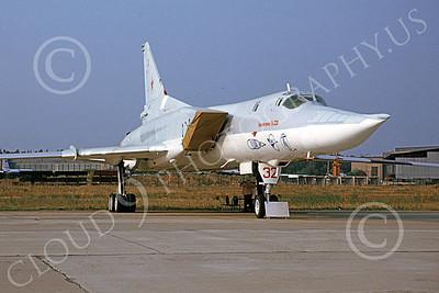 Tupolev Tu-22M Backfire 00006 A static Soviet Air Force Tupolev Tu-22M Backfire strategic bomber 9-1992, by Charles T Robbins