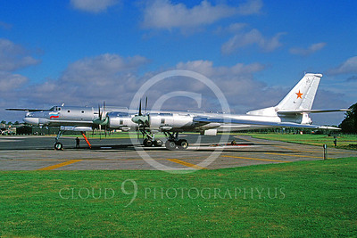 Tu-95 00003 Tupolev Tu-95 Bear Soviet Air Force via African Aviation Slide Service