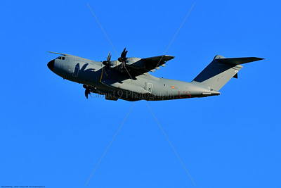 A400M-Spain 0002 An Airbus A400M Atlas turboprop military transport Spanish Air Force climbing out after taking off from Nellis AFB during a 3-2020 Red Flag exercise military airplane picture by Peter J  Mancus     852_2670     Dt