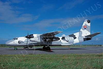Antonov An-24 Coke 00009 Antonov An-24 Coke Slovak Air Force 2506 via African Aviation Slide Service
