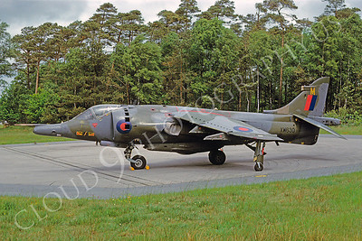 BAE Harrier 00013 BAE Harrier British RAF XW630 June 1986 via African Aviation Slide Service