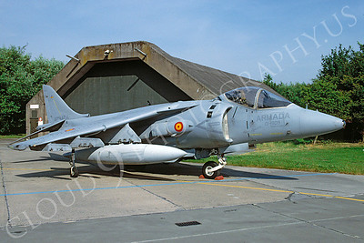 BAE Sea Harrier 00001 BAE Sea Harrier Spanish Navy 01-909 July 1990 via African Aviation Slide Service