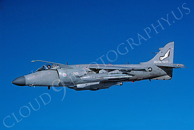 BAE Systems Sea Harrier FA2 00010 British Royal Navy ZH809 via African Aviation Slide Service