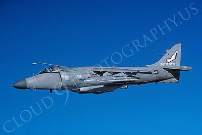 BAE Systems Sea Harrier FA2 00010 British Royal Navy ZH809 via African Aviation Slide Service