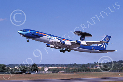 E-3Forg 00022 A flying colorful Boeing E-3 NATO 90442 8-1999 military airplane picture by Peter R Foster