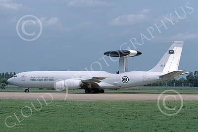 E-3Forg 00029 A taxing Boeing E-3 Sentry Royal Saudi Air Force 6-2003 military airplane picture by Thomas Gardner