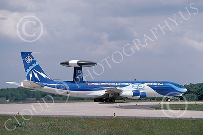 E-3Forg 00020 A taxing Boeing E-3 NATO 90442 6-1999 military airplane picture by Peter R Foster