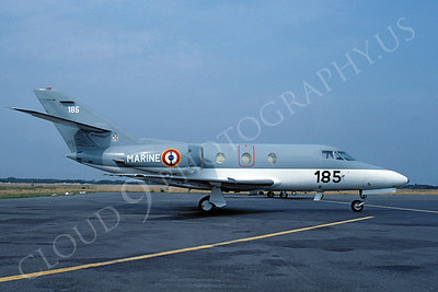 Dassault Falcon 10 00001 French Navy 185 October 1990 via African Aviation Slide Service